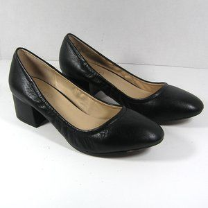 FRANCO SARTO Flicker Black Block Heel Pumps Size 7